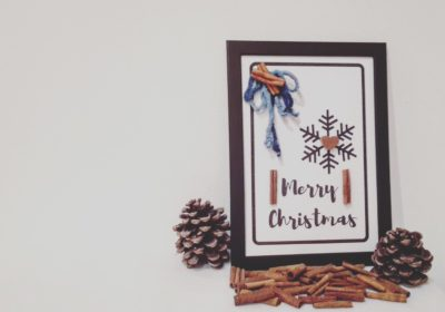 Cornice con disegno di Natale